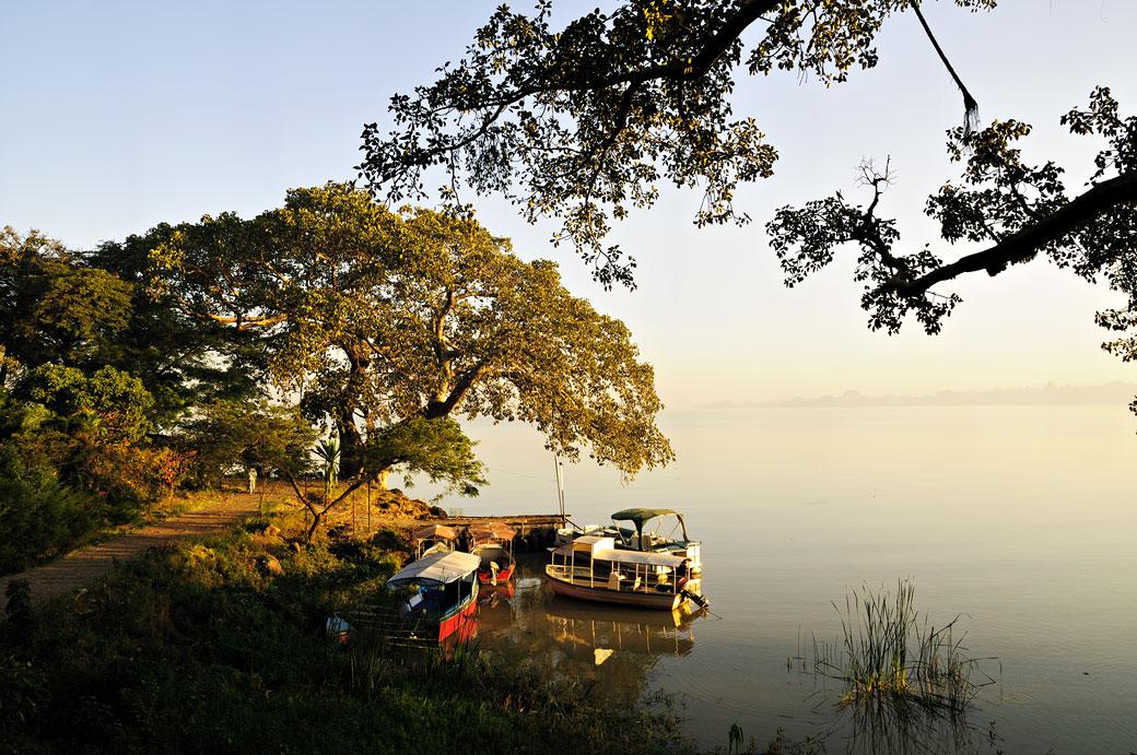Le lac Tana au petit matin, Ethiopie