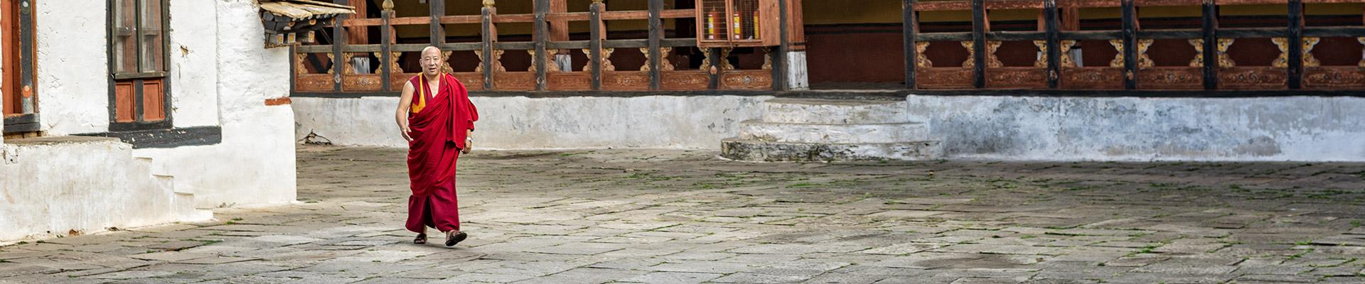 Top image moine dzong de Paro