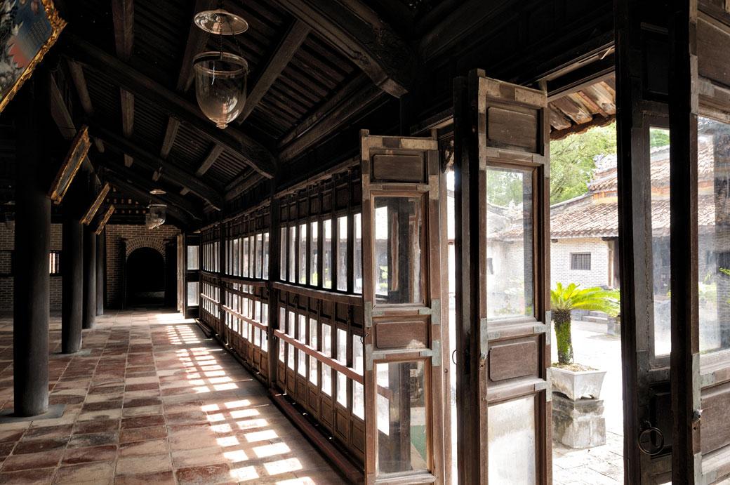 Pavillon dans l'enceinte du tombeau de Tu Duc, Vietnam
