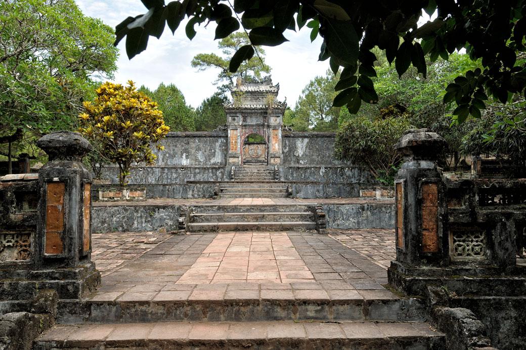 Tombeau Khiem Tho au mausolée de Tu Duc, Vietnam