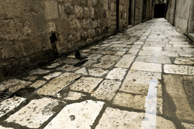 Ruelle pavée à Dubrovnik, Croatie