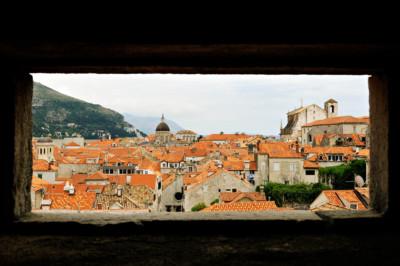 Ouverture sur les toits de Dubrovnik, Croatie
