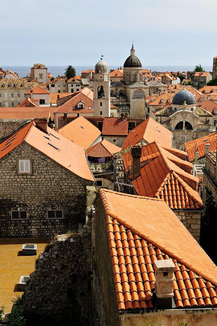 Toits et coupoles de Dubrovnik, Croatie