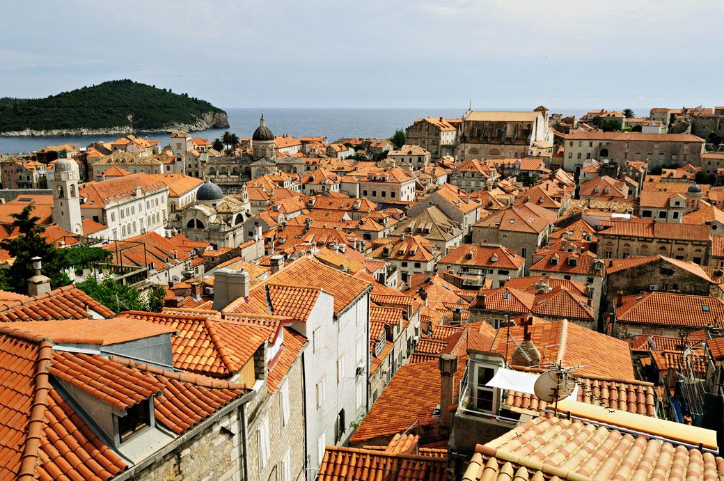Au-dessus des toits de Dubrovnik, Croatie