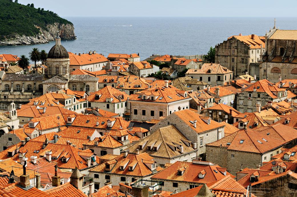 Les toits de Dubrovnik, Croatie