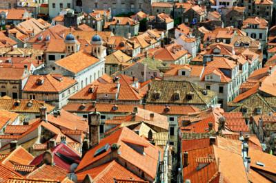 Densité de toits à Dubrovnik, Croatie