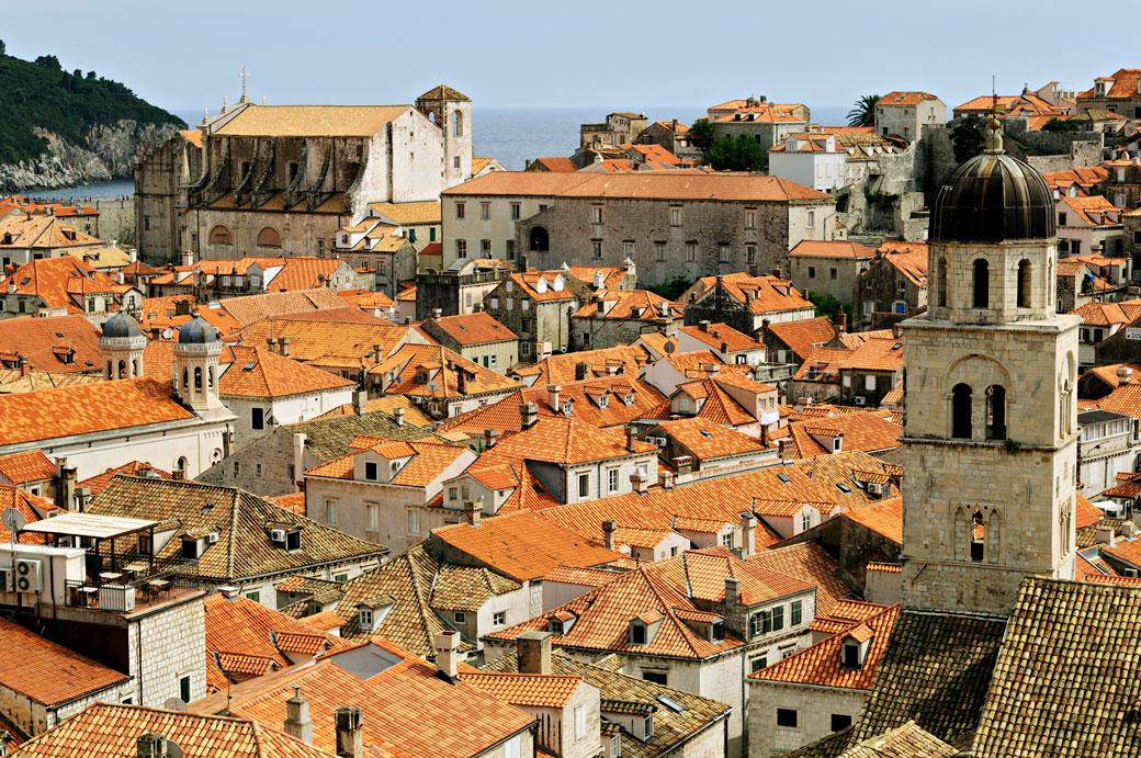 La vieille ville de Dubrovnik et ses toits, Croatie