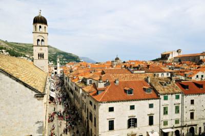 Stradun, la rue principale de Dubrovnik, Croatie
