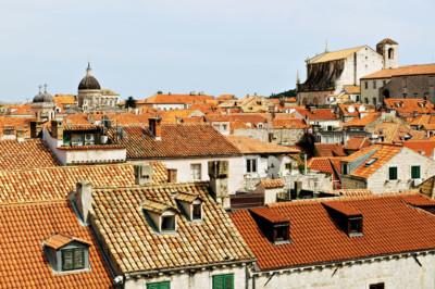 Au niveau des toits de Dubrovnik, Croatie