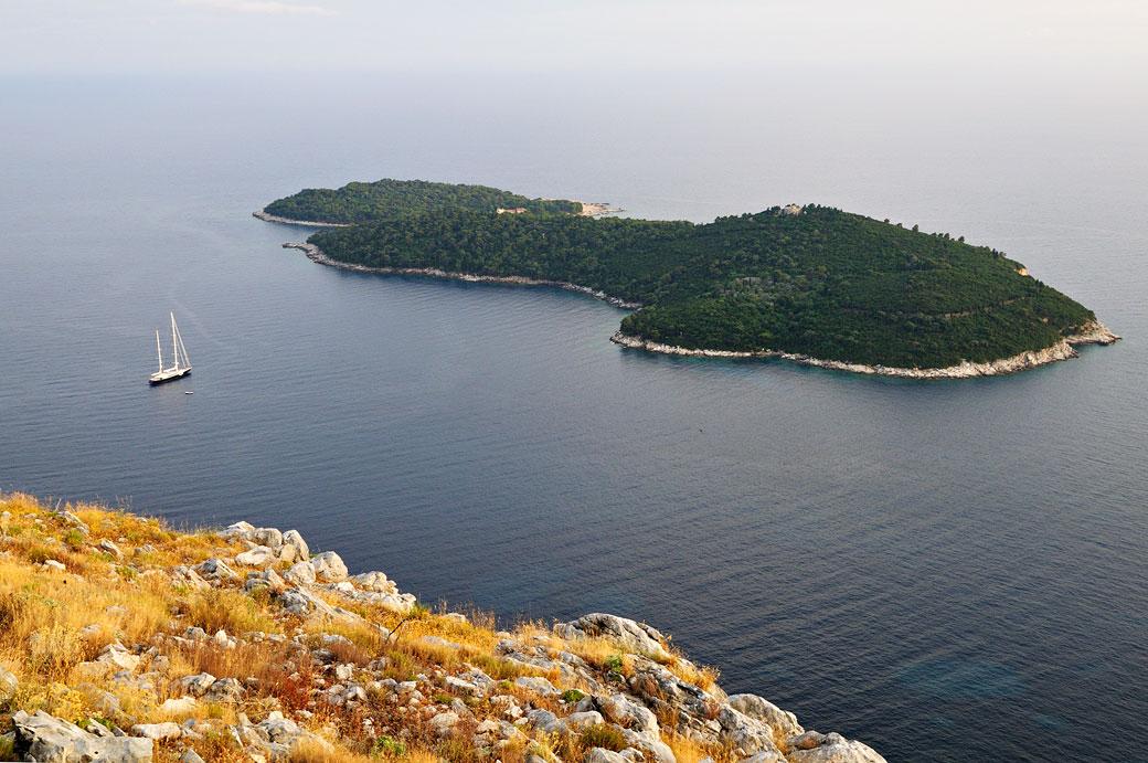 Île de Lokrum en fin de journée, Croatie