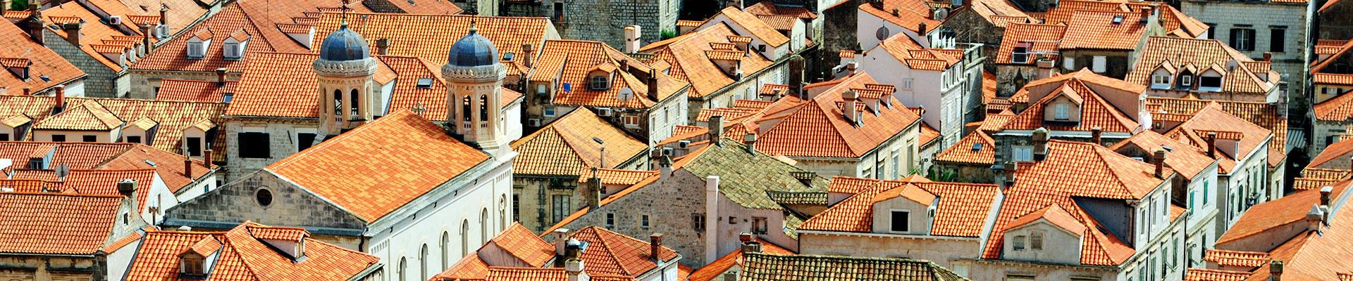 Top image toits de la vieille ville de Dubrovnik, Croatie