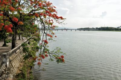 Berge de la rivière des Parfums à Hué, Vietnam