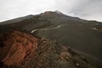 Route sur le Mont Etna en Sicile, Italie