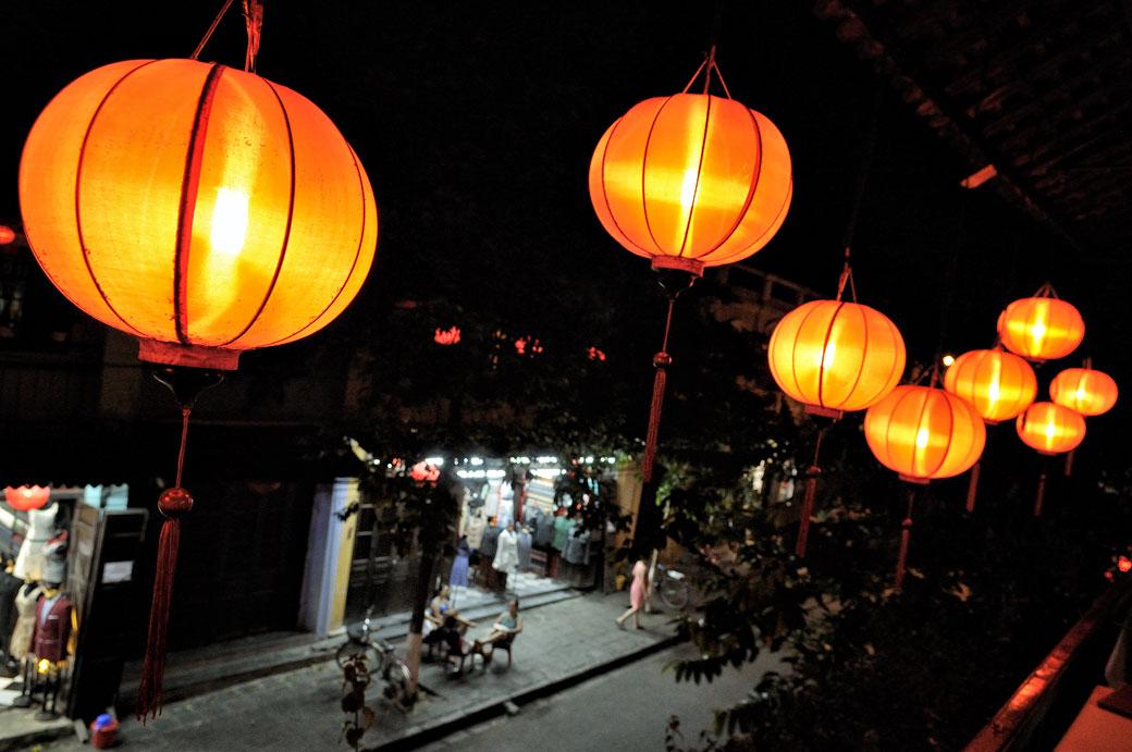 Lanternes de nuit à Hoi An, Vietnam