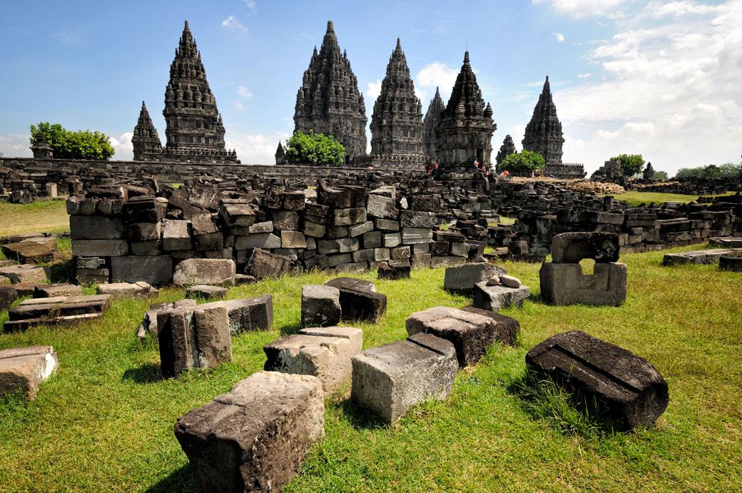 Temple hindou de Prambanan sur l'île de Java, Indonésie