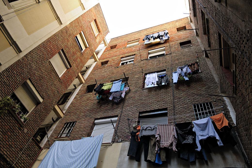 Séchage du linge dans le quartier de la Barceloneta