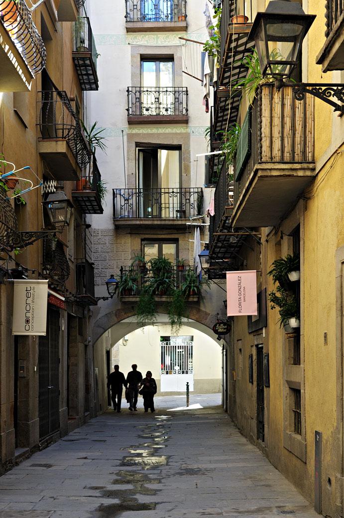 Carrer de la Volta dels Tamborets dans le quartier du Born à Barcelone