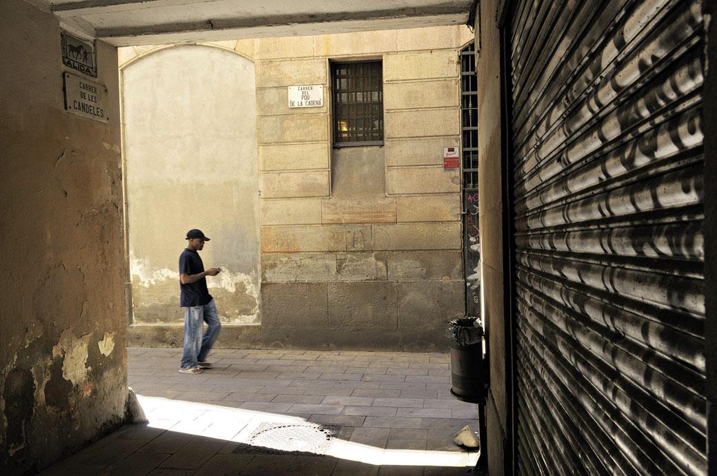 Carrer de les Candeles à Barcelone, Espagne
