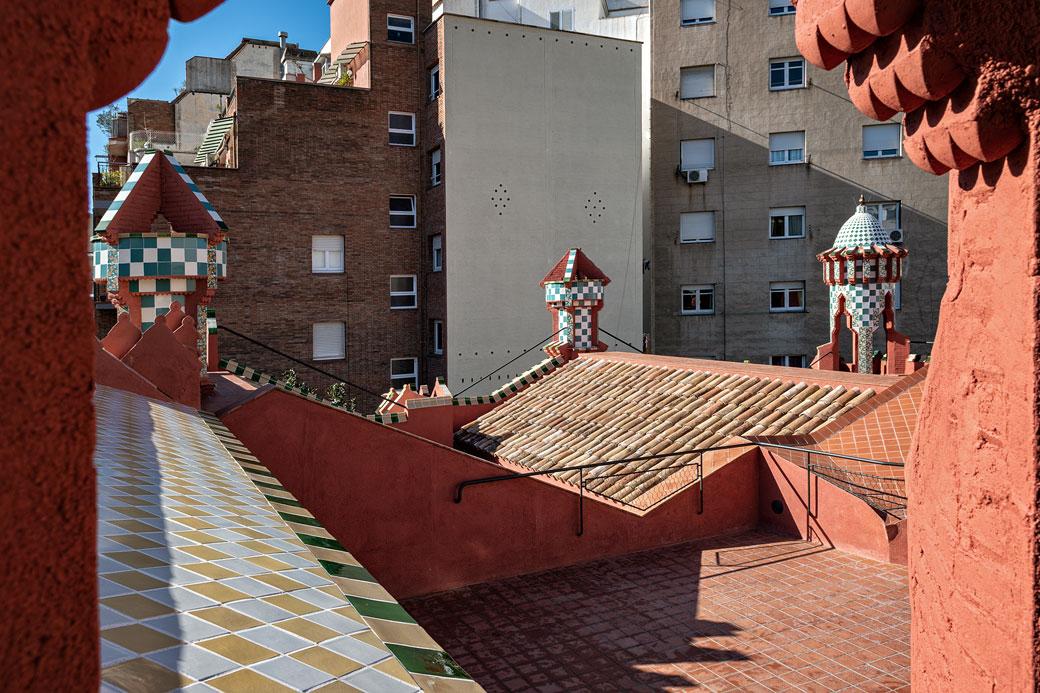 Terrasse de la Casa Vicens à Barcelone