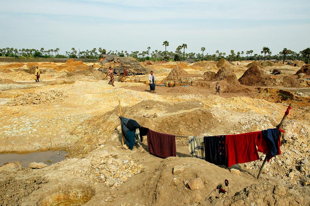 Mine de cuivre près de Monywa, Birmanie