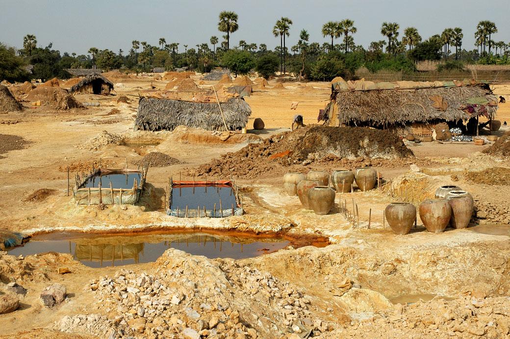 Mine de cuivre dans la région de Monywa, Birmanie