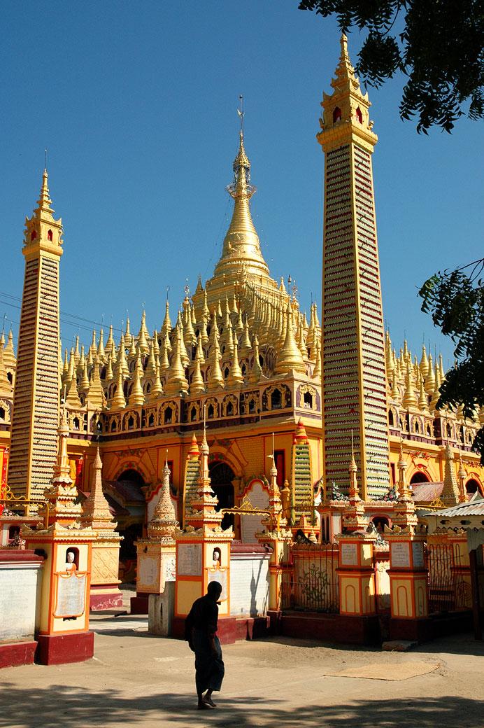 Pagode de Thanboddhay dans la région de Monywa, Birmanie