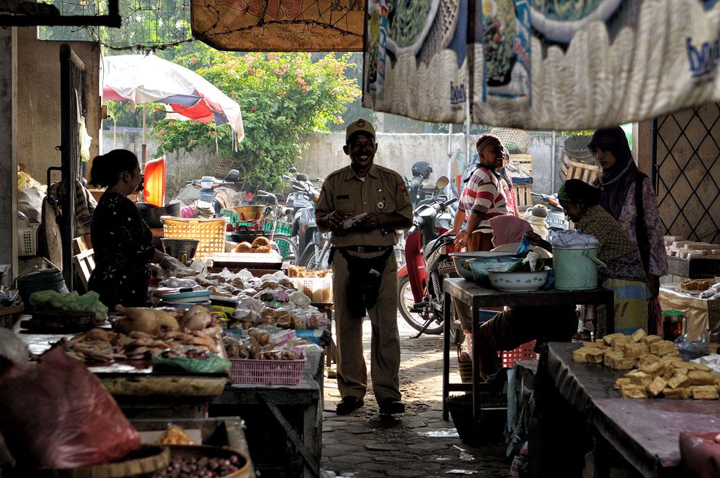 Marché de Borobudur sur l'île de Java, Indonésie