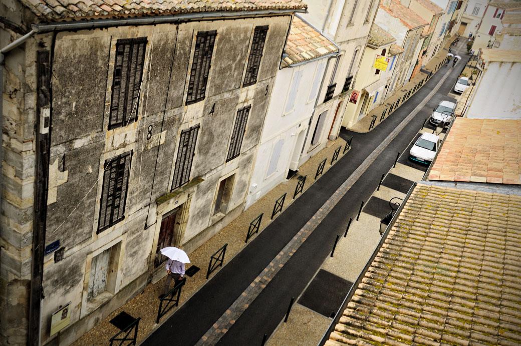 Pluie sur Aigues-Mortes, France