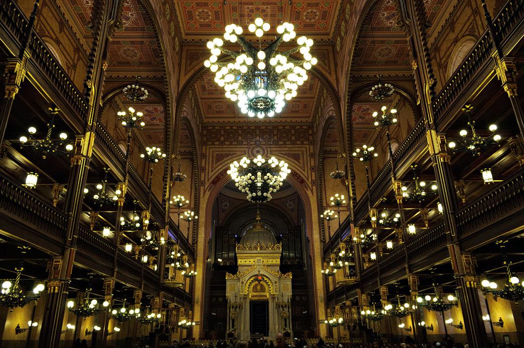 Intérieur de la grande Synagogue de Budapest, Hongrie