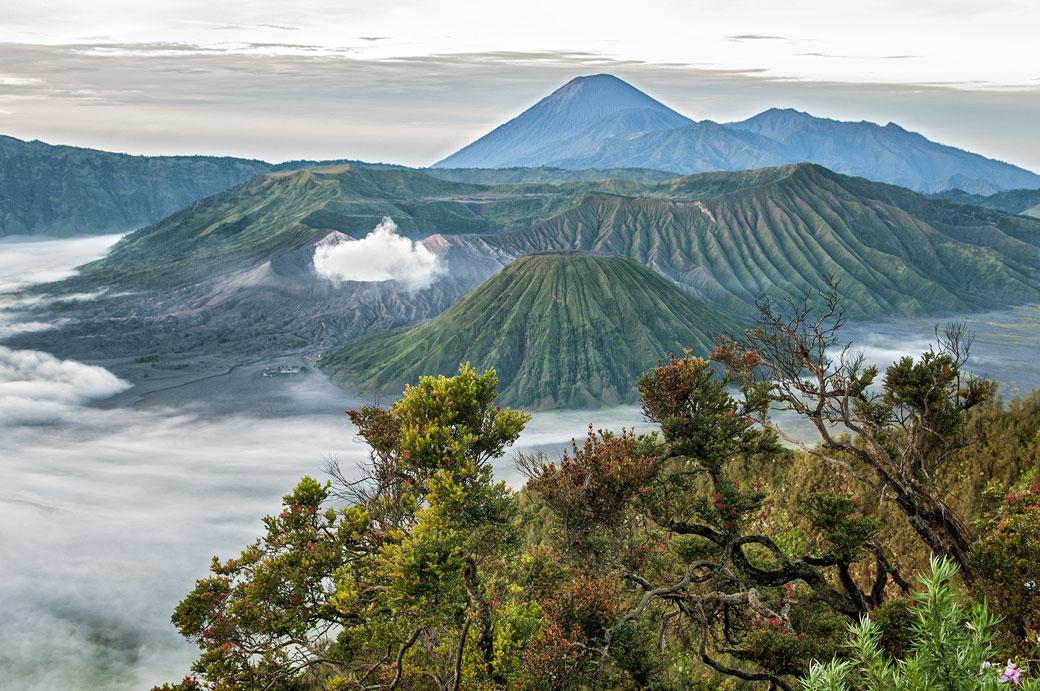 Volcans du Parc national de Bromo-Tengger-Semeru, Indonésie