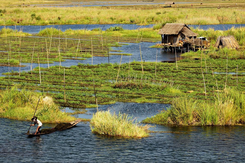 Birmanie le lac inle et ses jardins flottants for Jardin flottant