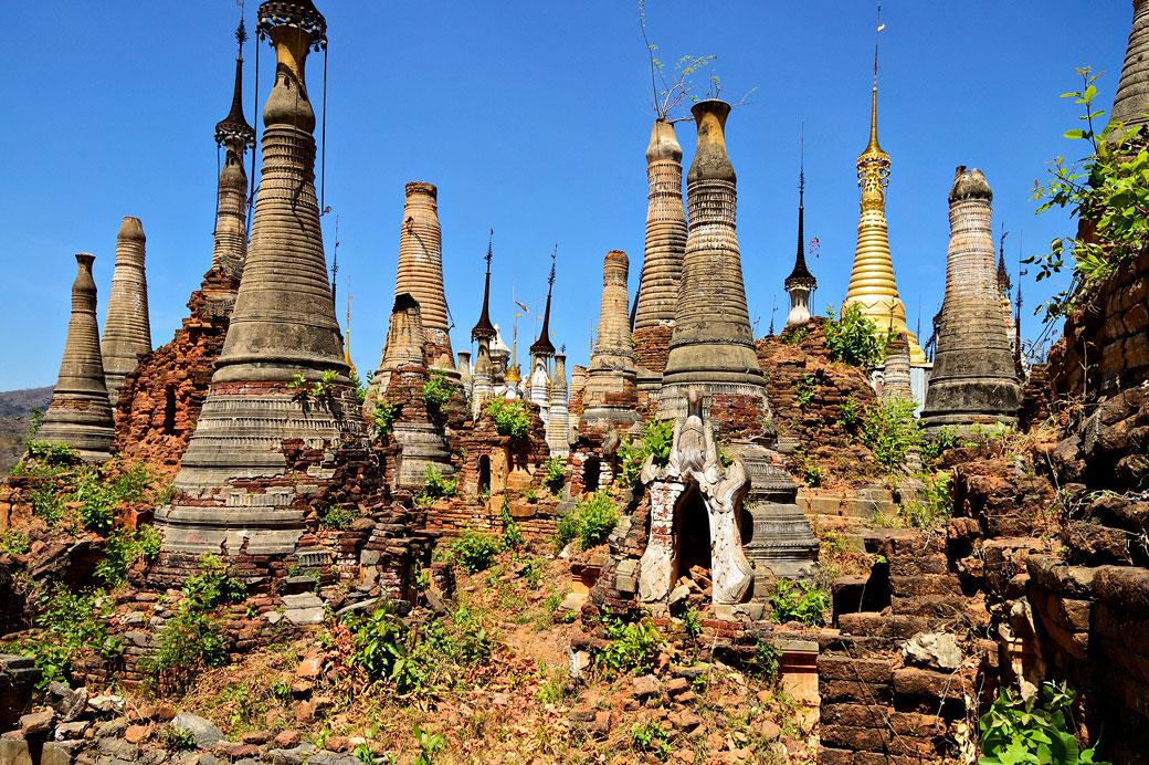 Ruines de la pagode de Shwe Inn Thein, Birmanie
