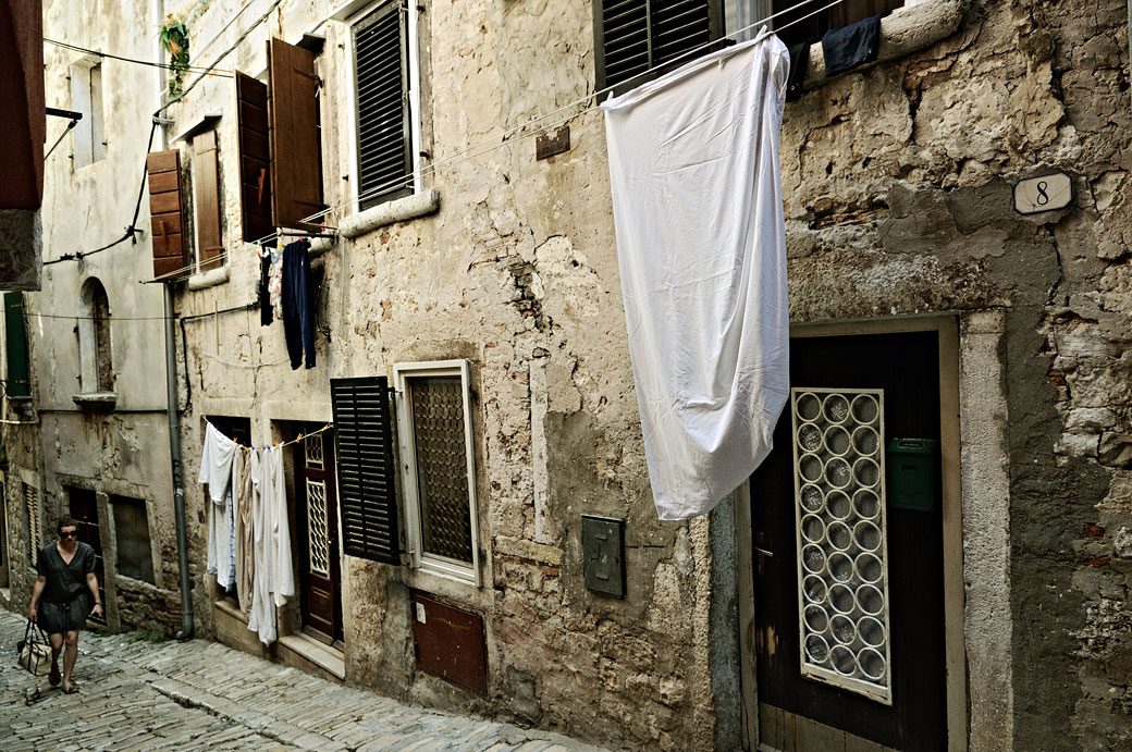 Vieille ville de Rovinj en Istrie, Croatie