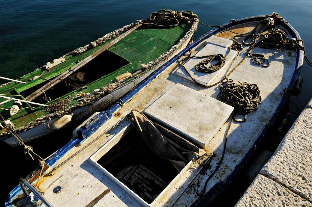 Barques de Rovinj en Istrie, Croatie