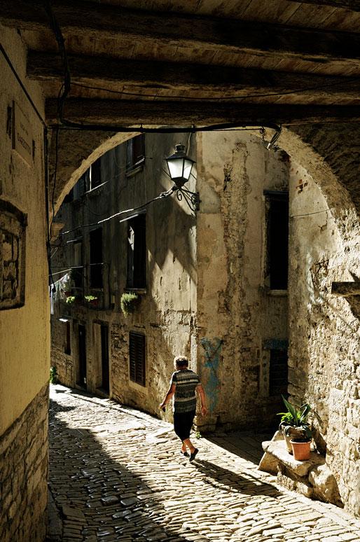 Au coeur de la vieille ville de Rovinj, Croatie