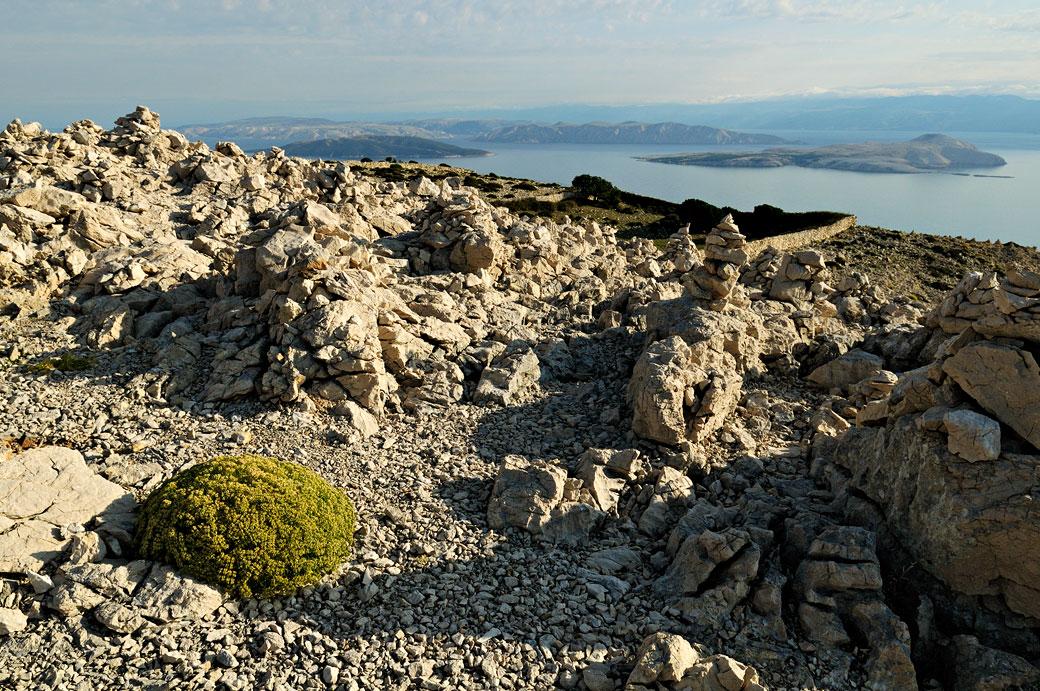Sommet minéral de l'île de Rab, Croatie