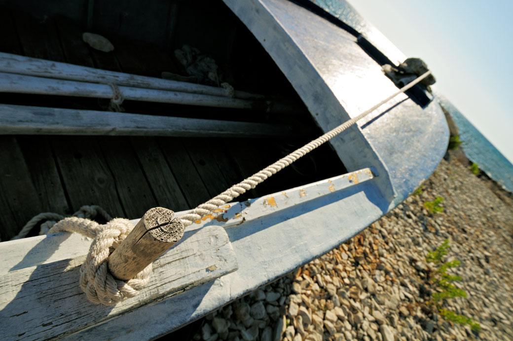 Barque à contre-jour sur Dugi Otok, Croatie