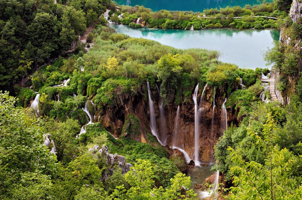 Cascades des lacs inférieurs de Plitvice, Croatie