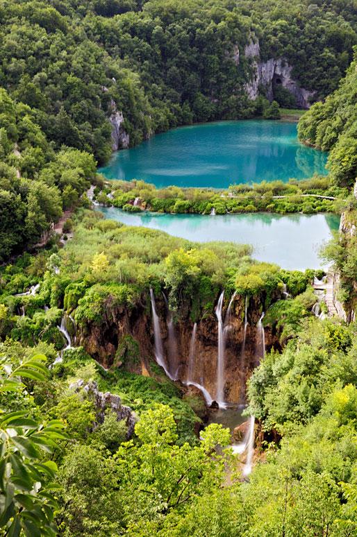 Lacs inférieurs du parc national de Plitvice, Croatie