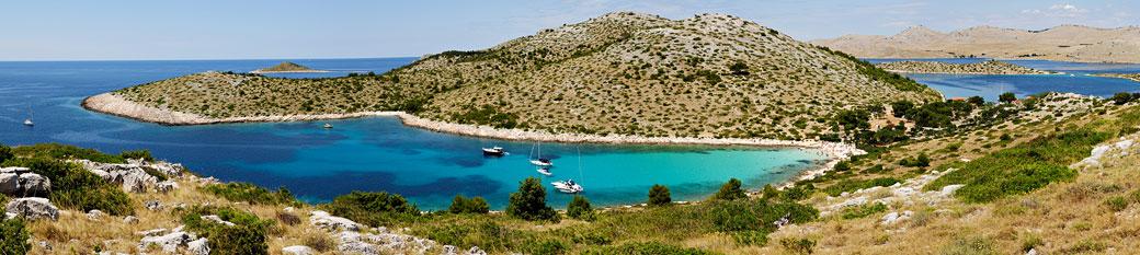 Île de Levrnaka dans le parc national des Kornati, Croatie