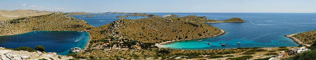Archipel des Kornati depuis l'île de Levrnaka, Croatie