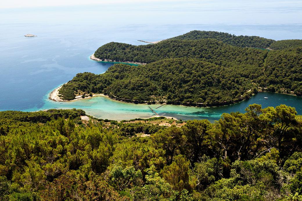 Détroit du grand lac salé sur l'île de Mljet, Croatie