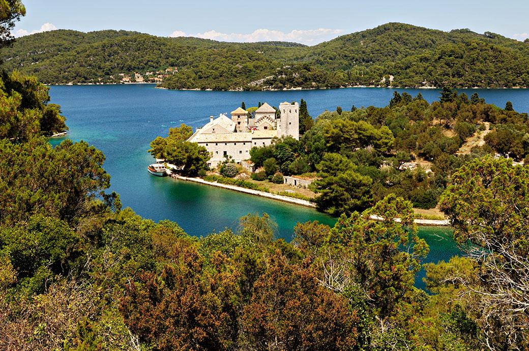 Monastère des Dominicains à Mljet sur un îlot, Croatie