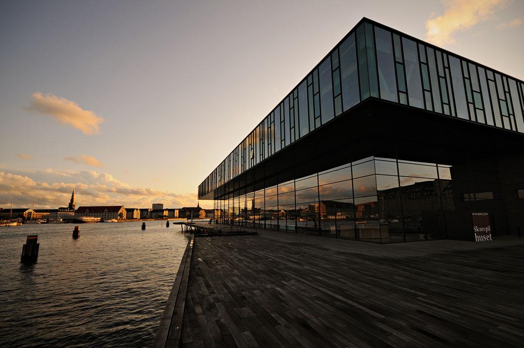 Le nouveau théâtre royal à Copenhague, Danemark