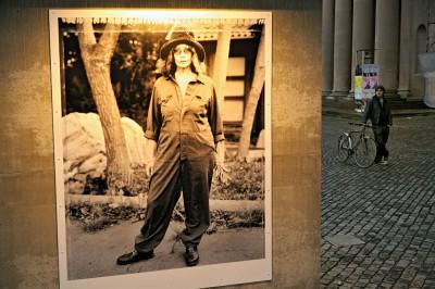 Exposition de photos dans les rues de Copenhague, Danemark