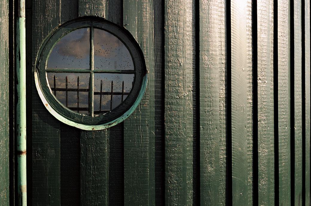 Fenêtre ronde sur Rundetårn à Copenhague, Danemark