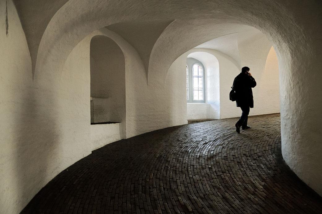 Rampe d'accès à Rundetaarn à Copenhague, Danemark