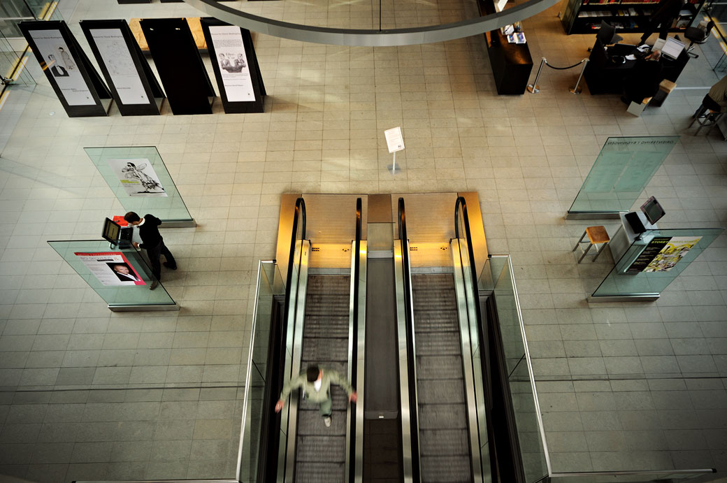 Escalateurs dans la bibliothèque royale de Copenhague