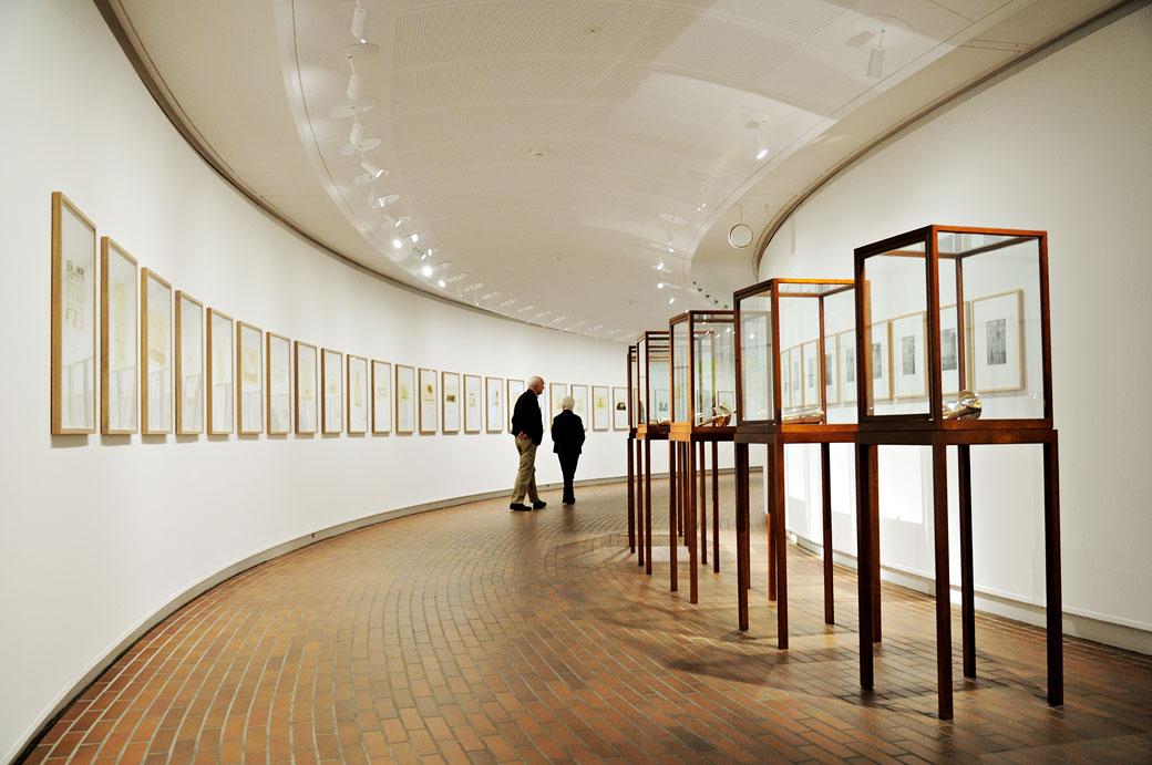 Architecture arrondie du musée Louisiana à Humlebæk, Danemark