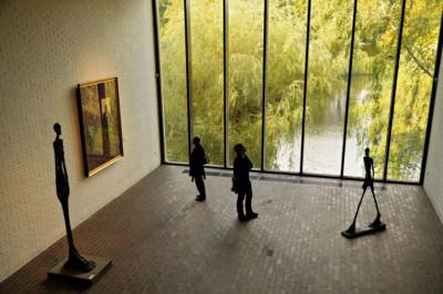 Sculptures de Giacometti au musée Louisiana, Danemark